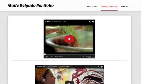 Portfolio de Maite Delgado
