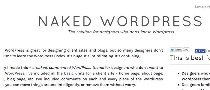 Naked | Tema vacion WordPress